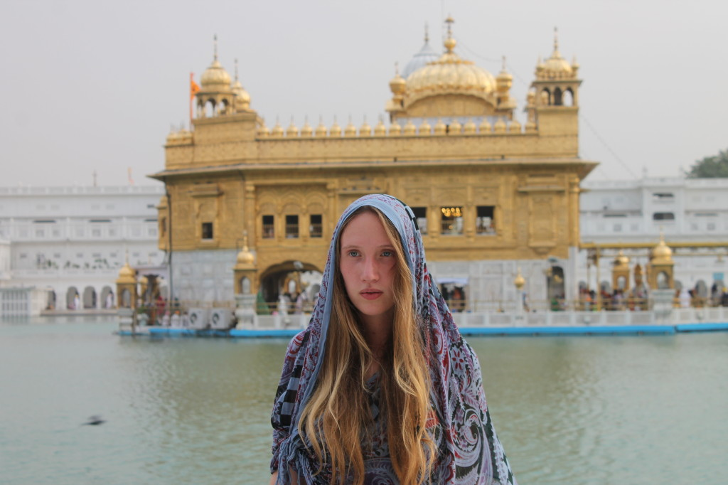 golden temple amritsar with volunteering India