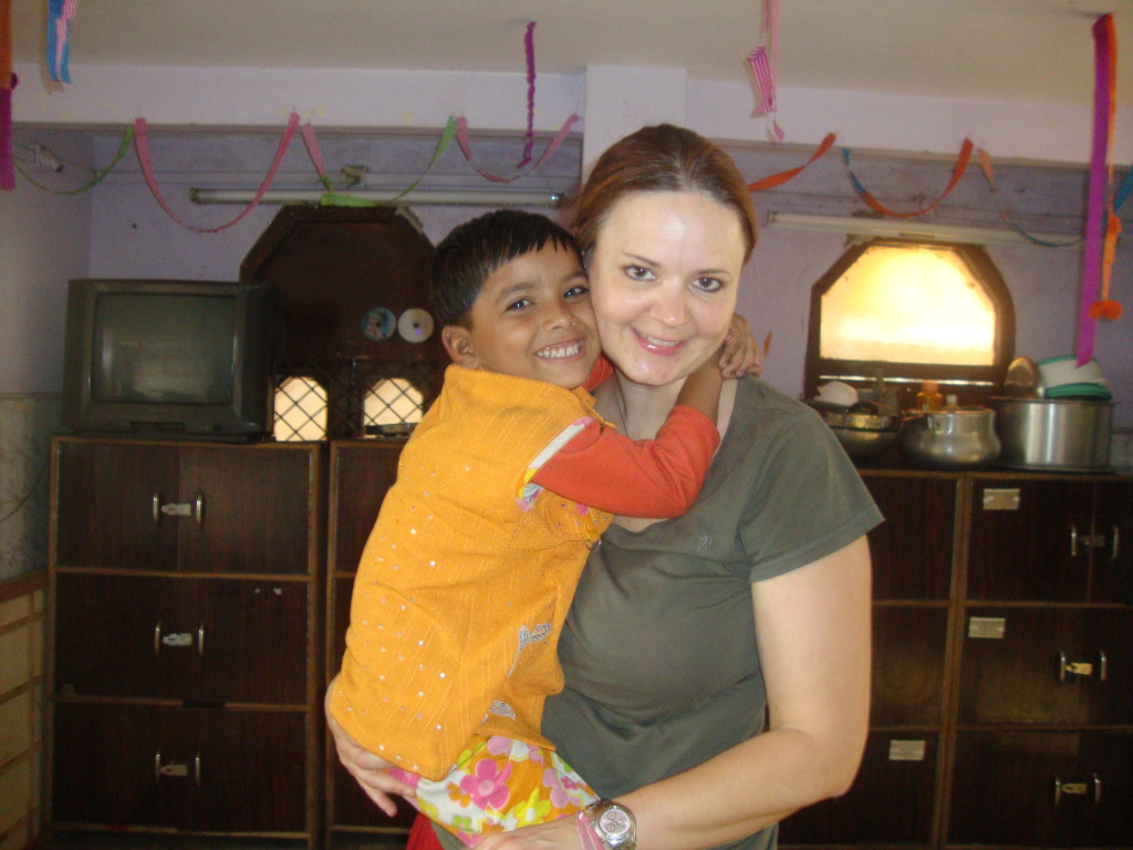 Childcare volunteering in India