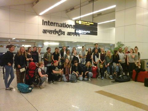 Arrival of students in India