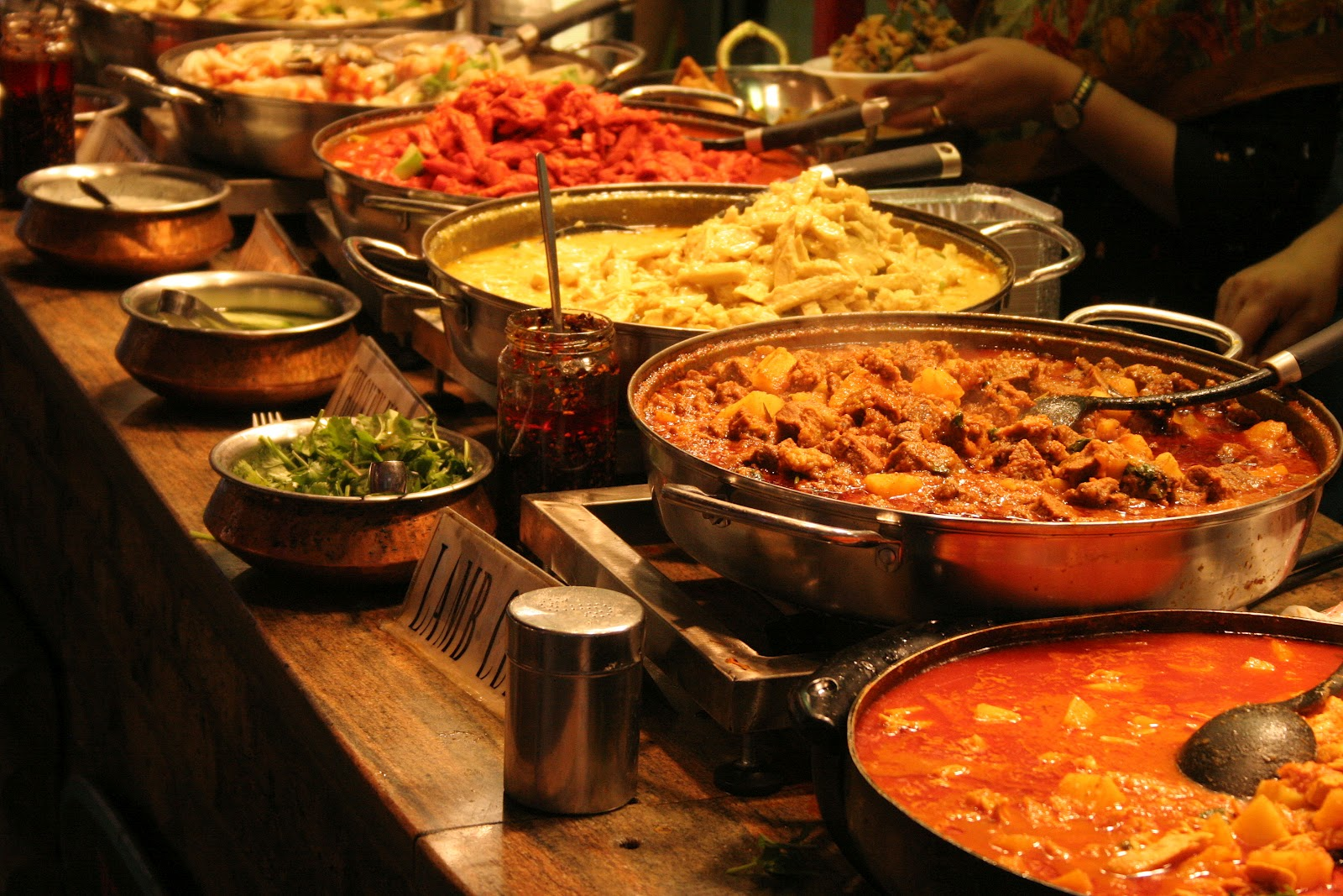 variety of indian food