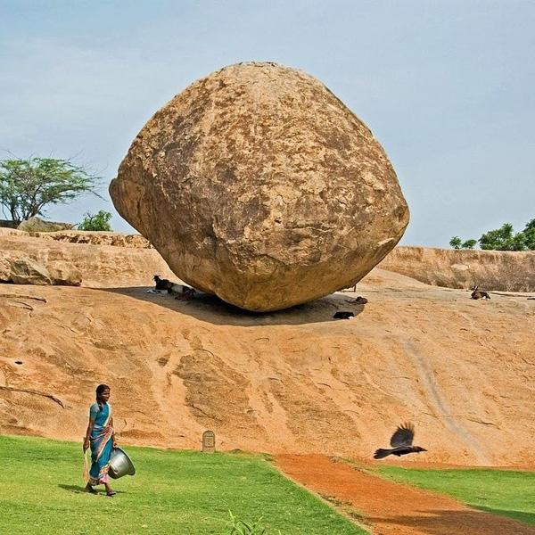 balancing rock in Tamilnadu