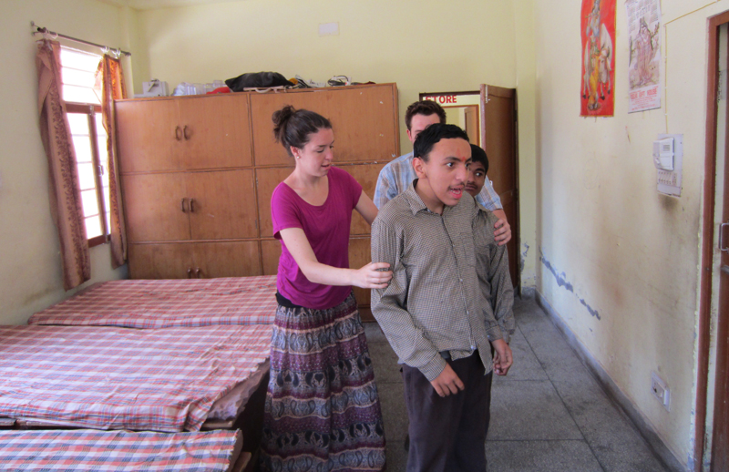 Disabled-care-volunteer-work-in-Palampur-india