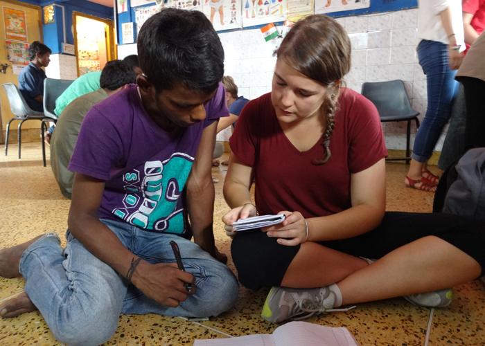 Maria-Jover-while-Street-Children-volunteering-in-India
