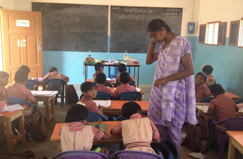 Teaching-volunteer-work-in-South-India
