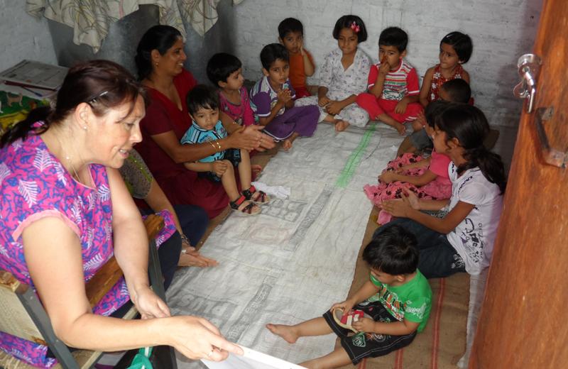 childcare-volunteering-in-Palampur-India-with-volunteering-India
