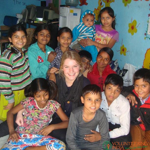 childcare volunteer in India