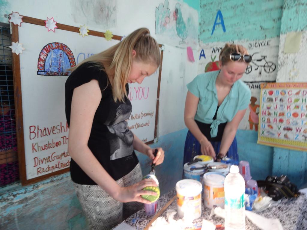 volunteer work with friends in India