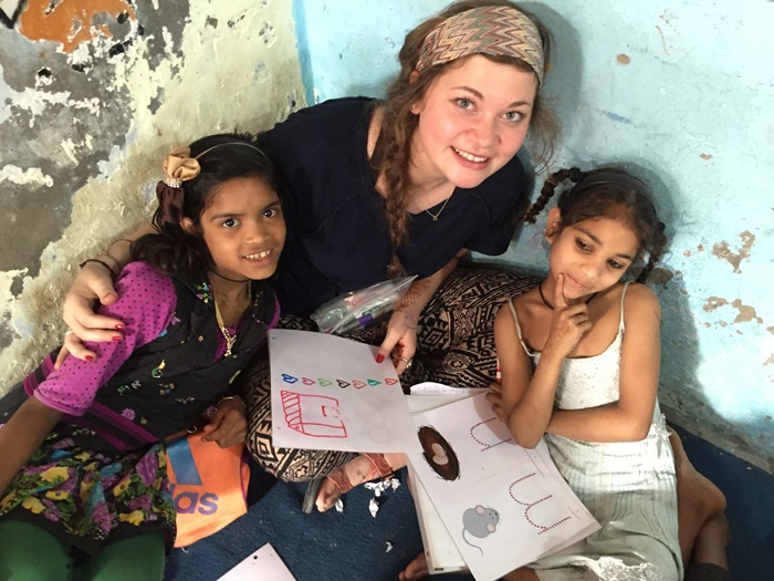 volunteer work with children in India