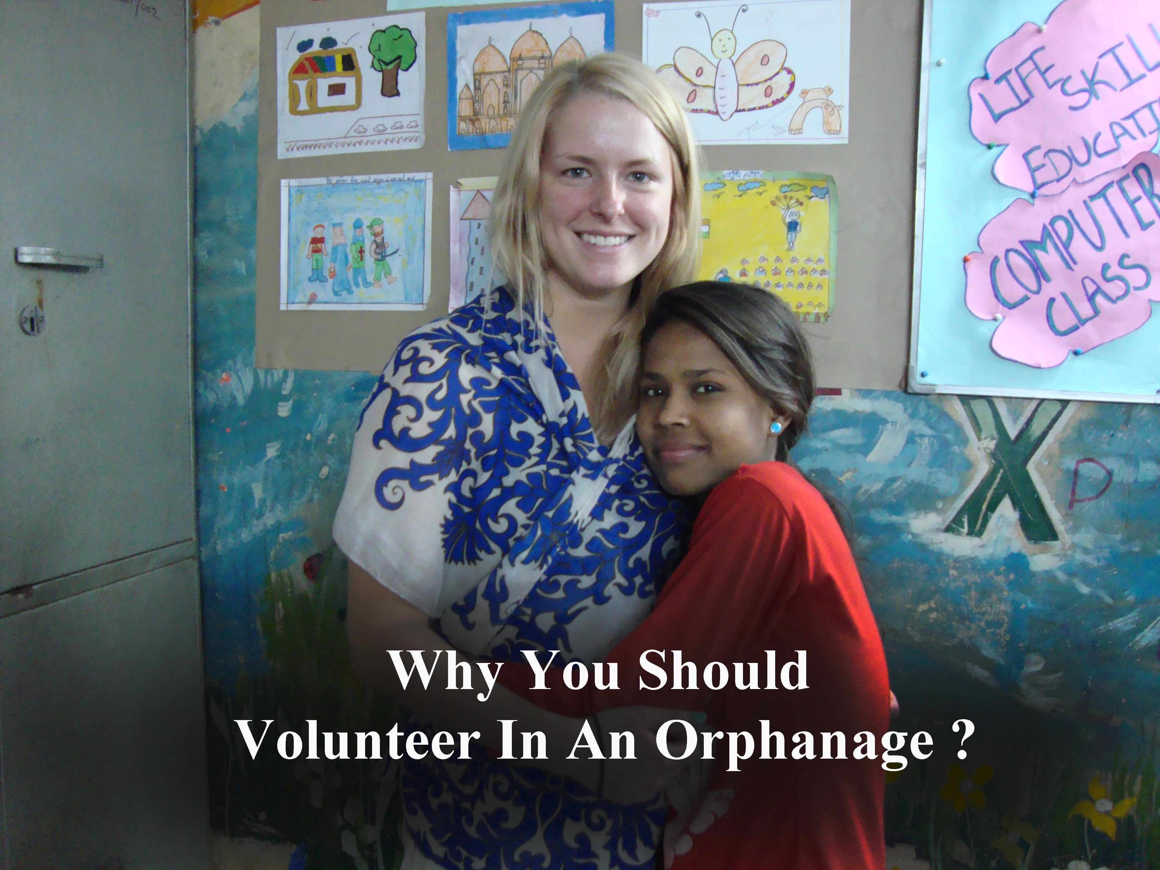 volunteering in an orphanange with VI