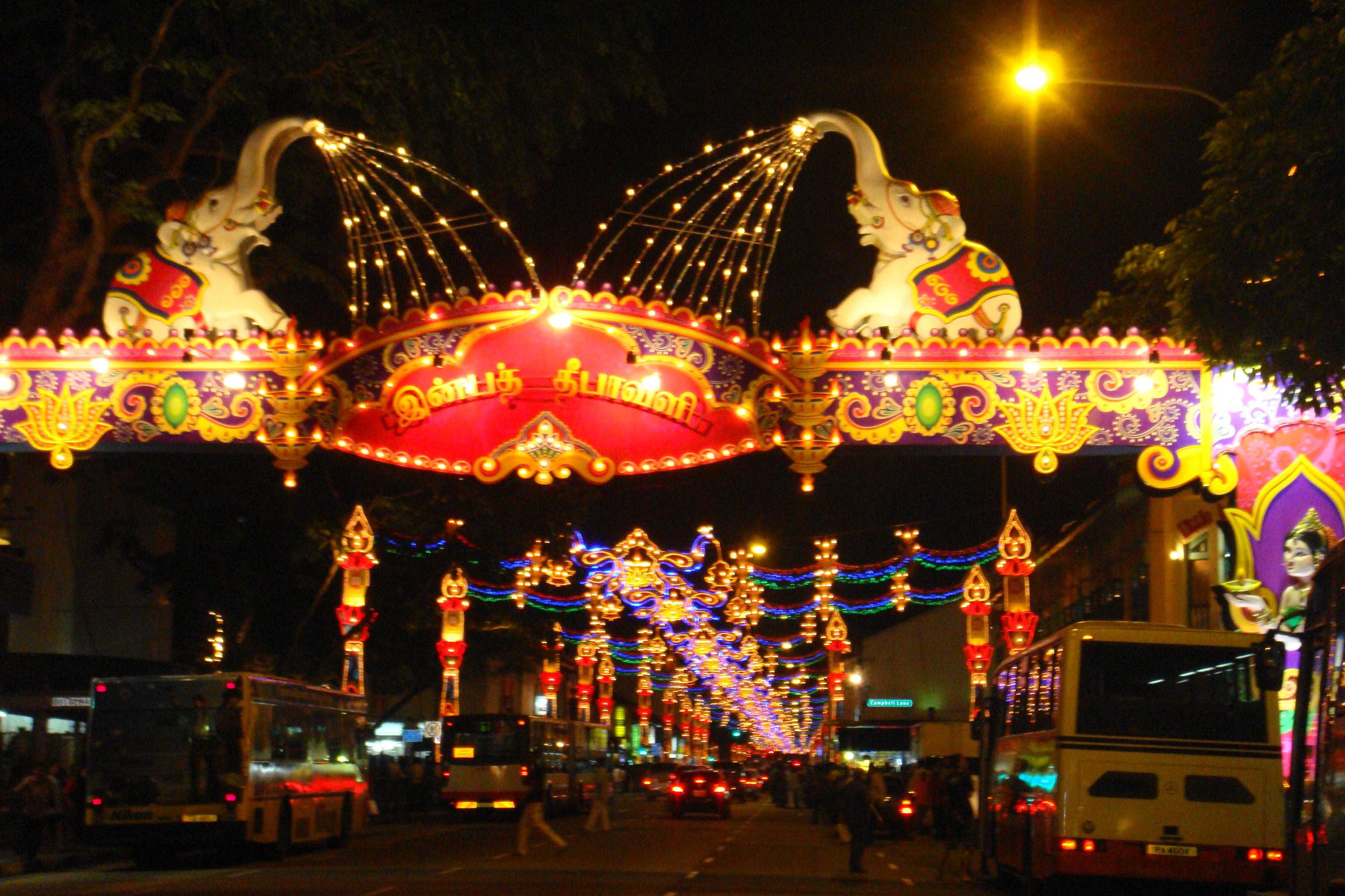 public places on diwali