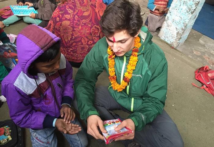 teaching volunteering in India