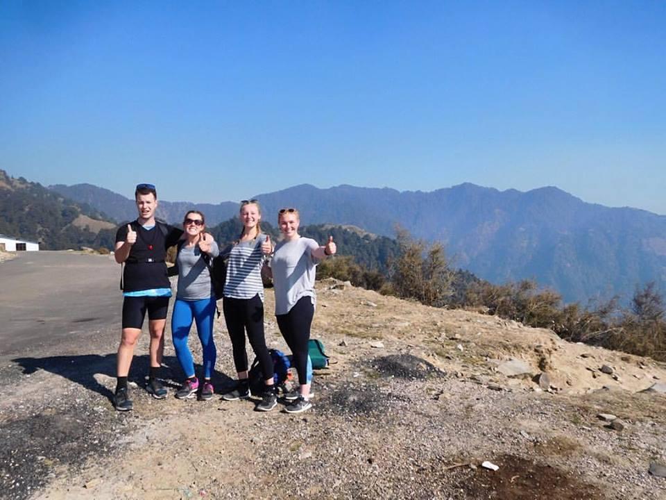group volunteering in India