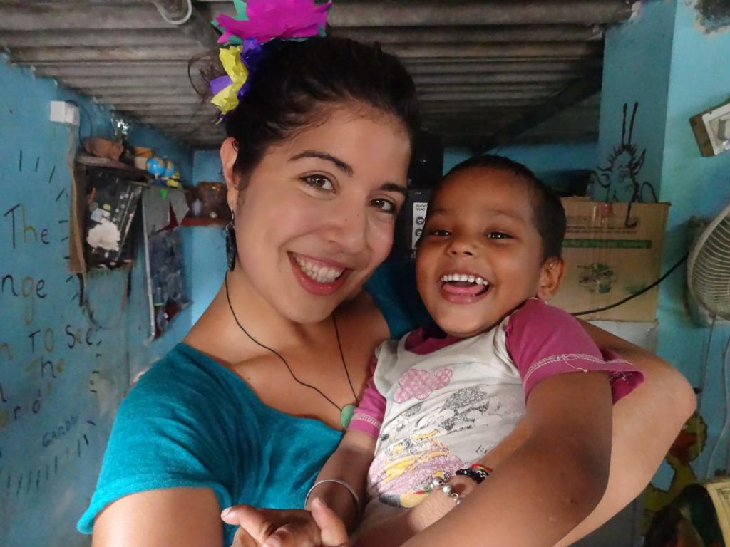 Childcare volunteer work in India