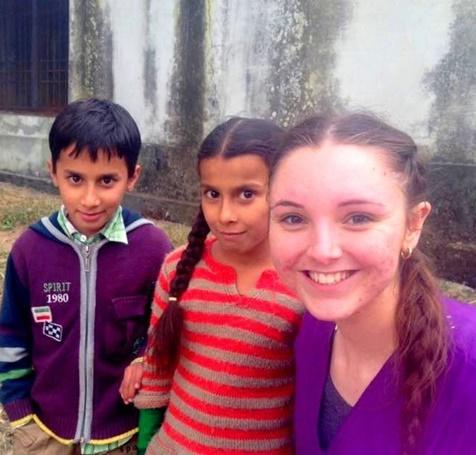 Betty summer volunteer in India