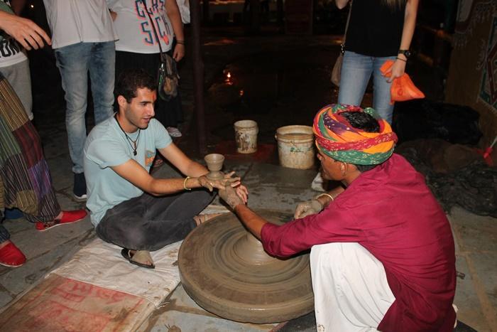 Emilio while volunteering in India