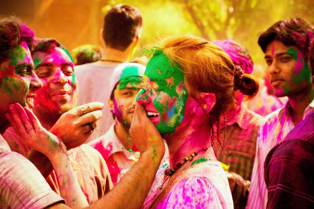 Holi celebration in Hampi